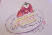 2014蘆竹農會家政班 / 生活彩繪課2 【透明水彩】:水彩 / 草莓蛋糕