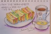 2014年我的生活速寫 / 圖畫日記:生活速寫/咖啡三明治