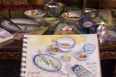2015年〈3月至4月〉生活速寫 / 手繪日記:【2015/190  淡彩速寫:桌面上酒足飯飽的時刻《食客》】比比看