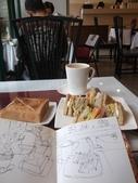 2015年11月 / 生活速寫。手繪日記:2015/502 輪廓速寫:美味精緻的早午餐咖啡