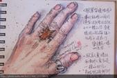 2015年〈1月至2月〉生活速寫 / 手繪日記:2015/039 淡彩速寫:楓葉造型琥珀銀戒