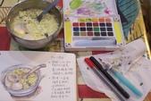 2014年我的生活速寫 / 圖畫日記:淡彩速寫 /2014的冬至湯圓