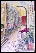 2015年〈3月至4月〉生活速寫 / 手繪日記:2015/131 淡彩速寫:畫眼鏡行店外的街景