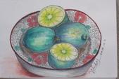 2014蘆竹農會家政班 / 生活彩繪課2 【透明水彩】:32開 / 水彩  花碗檸檬