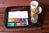 家政班繪畫團課 2:我的水彩畫用具和咖啡