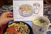 2014年我的生活速寫 / 圖畫日記:淡彩速寫 / 簡單的晚餐