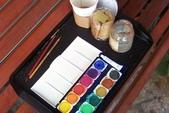 家政班繪畫團課 2:我水彩的工具