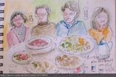 2015年〈1月至2月〉生活速寫 / 手繪日記:2015/091 淡彩速寫:除夕年夜飯,在八德的竹園餐廳