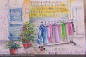 2015年〈1月至2月〉生活速寫 / 手繪日記:2015/071 淡彩速寫:晾乾的衣