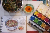 2014蘆竹農會家政班 / 生活彩繪課2 【透明水彩】:手繪 / 清燉牛肉麵〈我日常繪畫的簡單工具〉也用這樣的工具教學與推廣