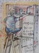 2015年9月 / 生活速寫。手繪日記:2015 / 414 淡彩速寫:修理冰箱的人