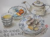 2017.01.28 春節開始的 生活速寫:【1/29 淡彩 下午茶】:去妹妹家喝茶、話家常