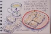 2014年我的生活速寫 / 圖畫日記:淡彩速寫 / 芝麻白玉年糕