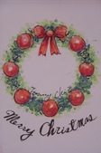 我手繪的耶誕卡。與名片。卡片:過去教學畫的示範圖
