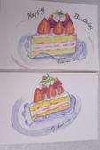 2014蘆竹農會家政班 / 生活彩繪課2 【透明水彩】:學生的水彩小品 / 臨摹仿畫蛋糕
