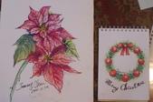 我手繪的耶誕卡。與名片。卡片:100_6333.JPG