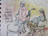 2015年7月 / 生活速寫。手繪日記:2015/ 332  淡彩速寫:在醫院畫候診病患