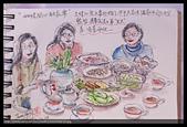 2014年我的生活速寫 / 圖畫日記:12/28大妹 / 郁如請弟妹家人聚餐【餐後小弟家喝茶】