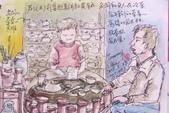 2015年1至5月人物素描 / 速寫:2015/ 231 淡彩速寫:集雅美術社的喝茶區