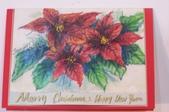 我手繪的耶誕卡。與名片。卡片:2013聖誕卡