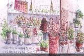 2015年〈1月至2月〉生活速寫 / 手繪日記:2015/056淡彩速寫:黃昏市場小花舖 / 內