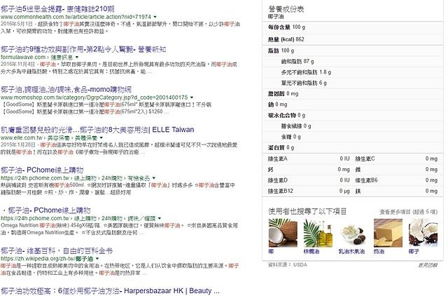 搜尋椰子油.jpg - 【KOKONUT】100%天然烹飪專用耐高溫椰子油