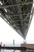 日本関西地方への旅行二回目:明石大橋の下
