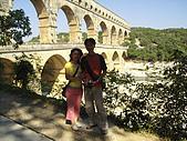 法國蜜月第四天:羅馬水道橋_老婆