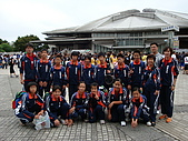 躲避球:97級東京體育館前合影