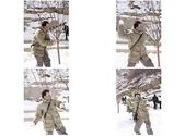 福虎生威西安行:打雪仗