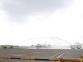 國內外國防軍警消防保全相簿:P-3C抵台 空軍噴水相迎.jpg