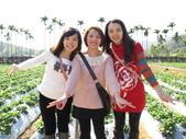 2012.1.27 大湖草莓&巧克力雲莊:穿紅衣那位快中暑了(好好笑)