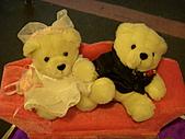 皇凱曉梅婚宴:入口的禮金桌的小擺飾...可愛小熊~