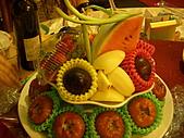 皇凱曉梅婚宴:好誇張的水果塔...XDDDD