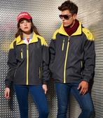 外套現貨(未分類):AC1042薄裡防潑水機能外套-深灰.黃