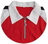 客製化款式介紹:本布領片+斜袖+拉鍊門襟