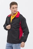 外套現貨(未分類):882 防潑水透濕透氣刷毛外套(黑配紅)