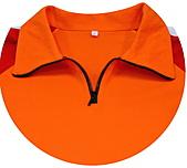 客製化款式介紹:本布領片+拉鍊門襟