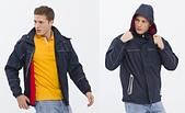 外套現貨(未分類):883 防潑水反光條刷毛(帽)外套(丈青色)