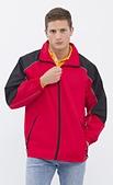 外套現貨(未分類):983 防潑水反光條薄外套(大紅配黑)
