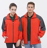 外套現貨(未分類):983 防潑水反光條薄外套(亮桔配深灰)