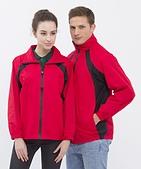 外套現貨(未分類):@停產@ 785 防潑水透濕透氣薄外套(紅配黑)