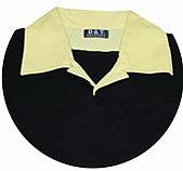 客製化款式介紹:本布領片+雙門襟配色