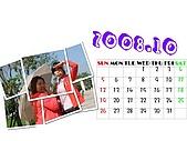 2008年月曆與年曆分享活動!!:[angela.ah] 10月-我與好姐妹