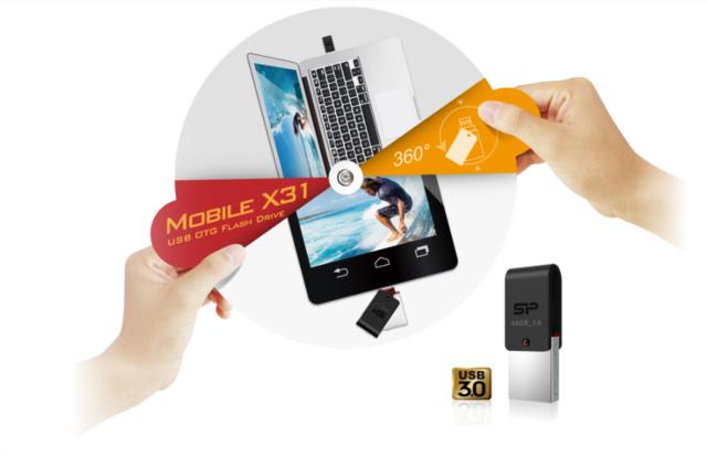 mobile x31.png - OTG SP Mobile X31開箱64G OTG隨身碟,Chip On Board 防水防塵防震
