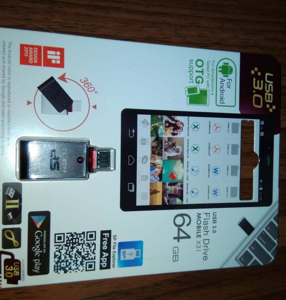OTG SP Mobile X31開箱64G OTG隨身碟,Chip On Board 防水防塵防震:IMG_20170715_193640.jpg