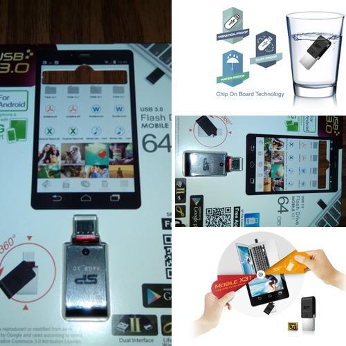 相簿封面 - OTG SP Mobile X31開箱64G OTG隨身碟,Chip On Board 防水防塵防震