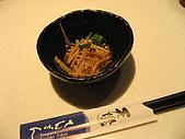 天讚烏龍麵-台北市松壽路61號B1 02-8788-3099:上前菜裏頭有金針菇/小香菇/牛蒡,吃起來酸甜很開胃