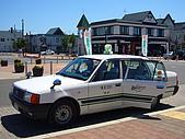 Hokkaido ~:The cab outside the station waiting for passenger...