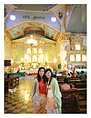 Phillipines ~ Cebu 宿霧:Had to wrap a clothing around us inside the church as we were wearing short...